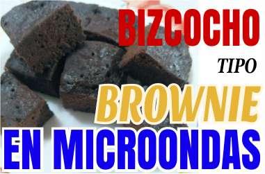 Bizcocho tipo brownie en microondas