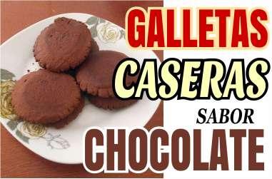 Galletas caseras de chocolate