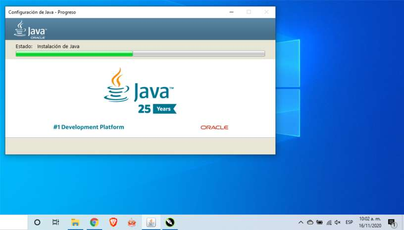Proceso de instalación de Java