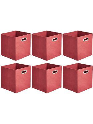 Cubos plegables rojos