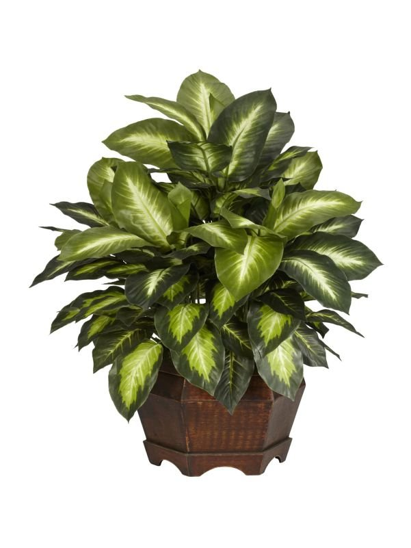 Planta dieffenbachia artificial con maceta