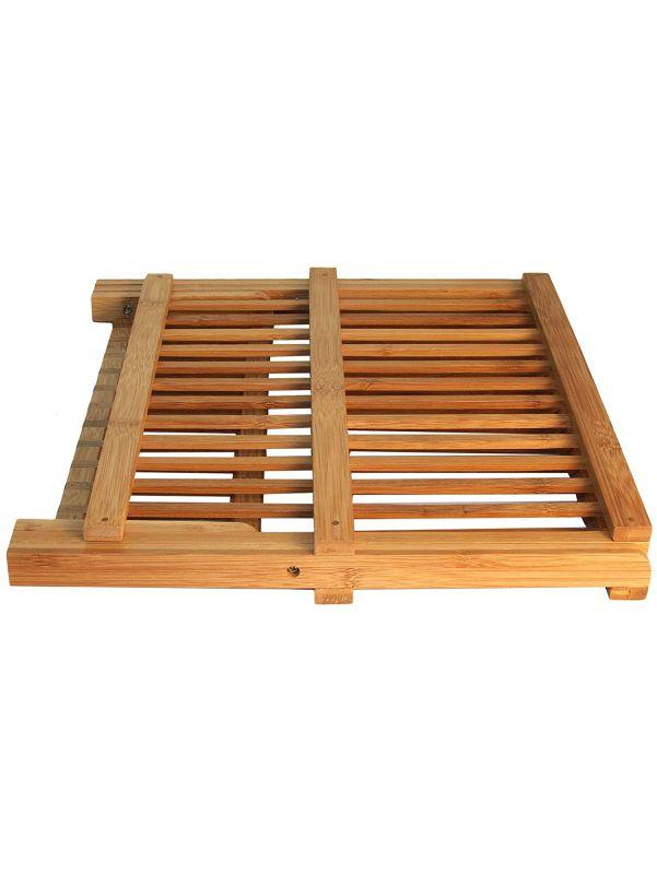 Escurridor de bambú plegado