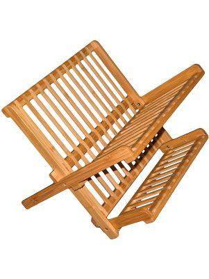 Escurridor de madera de bambú