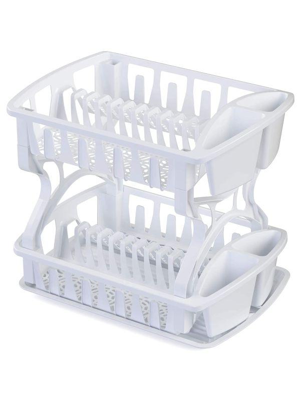 Escurridor plastico blanco dos niveles