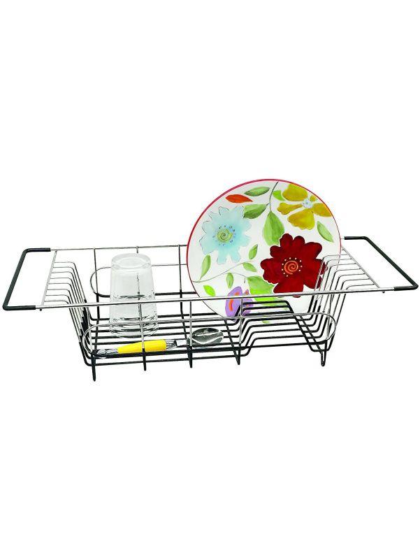 Escurridor rejilla de platos en el fregadero