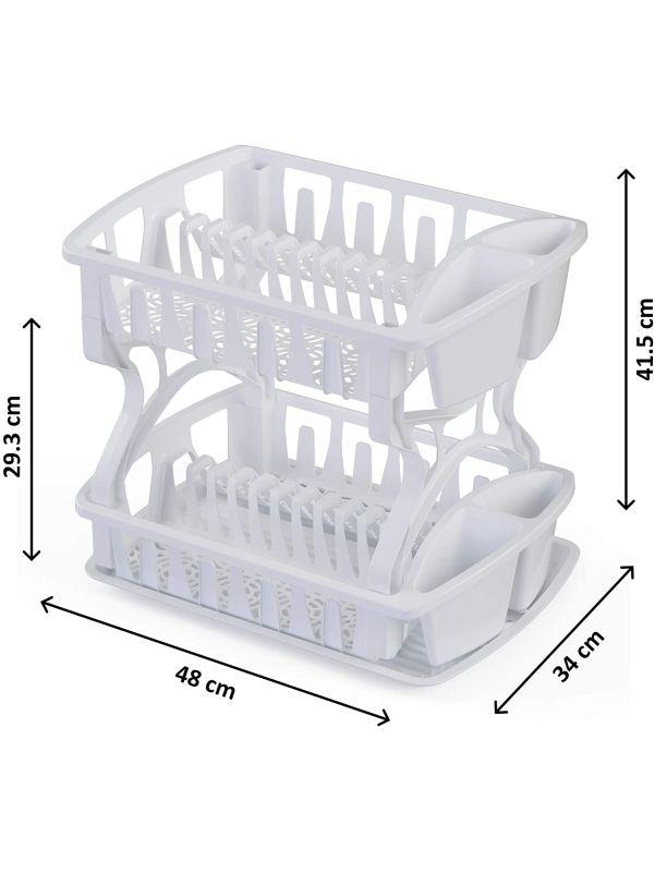 Medidas escurridor de plastico 2 niveles