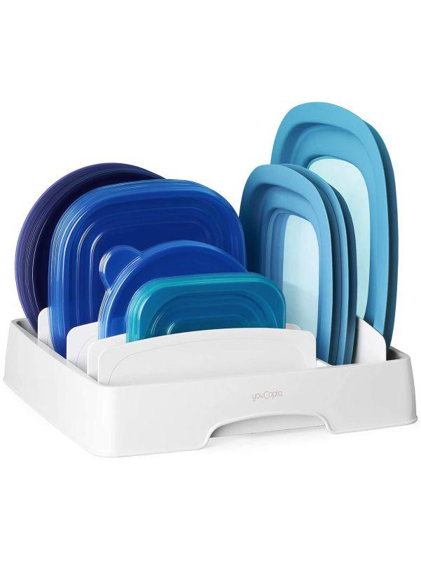 Organizador para tapas de plástico