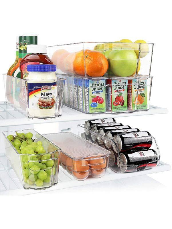 Set de cajas organizadoras para refrigerador