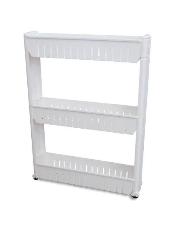 Estante de almacenamiento con tres niveles