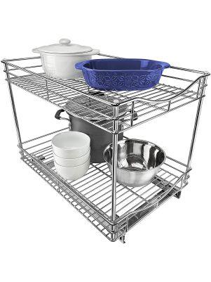 Estante organizador para gabinetes de cocina anchos