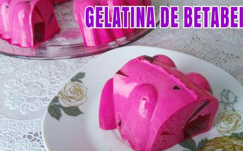 Gelatina de 3 leches con betabel