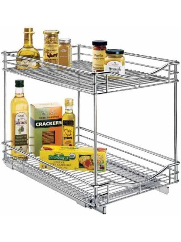 Organizador ancho de dos niveles para cocina