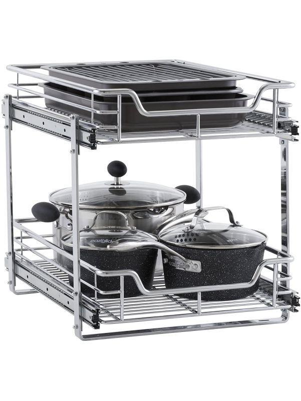 Organizador de ollas con dos repisas