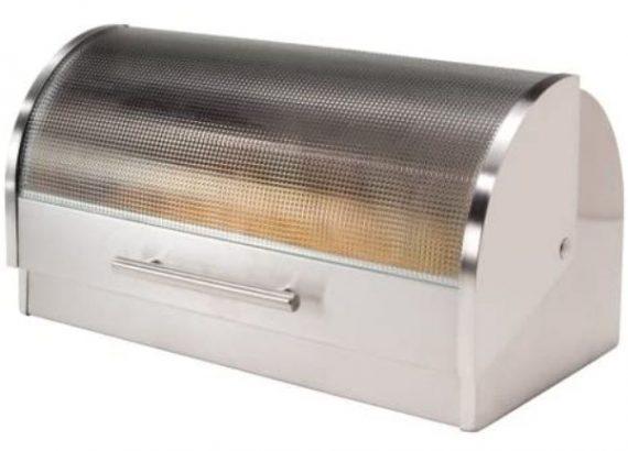 Caja de acero inoxidable para pan